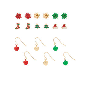 Christmas Mixed Earrings - 9 Pack,