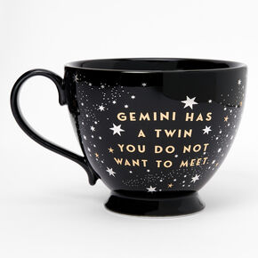 Black Ceramic Zodiac Mug - Gemini,