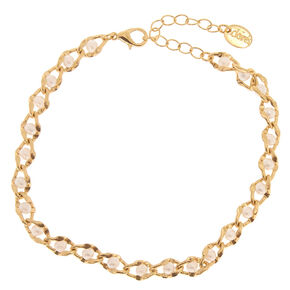 Pearl & Gold Chainlink Anklet,