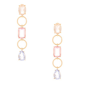 "3"" Pastel Shine Linear Drop Earrings,"