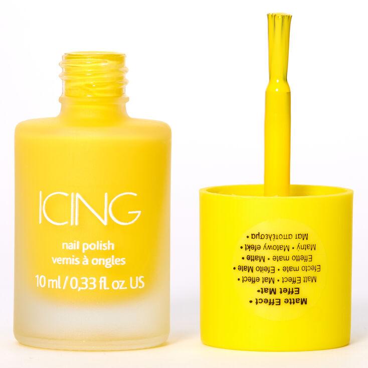 Matte Nail Polish - Neon Yellow,