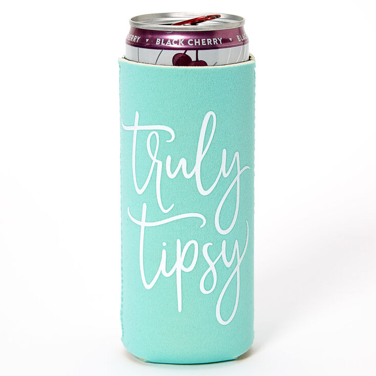 Truly Tipsy Skinny Koozie - Mint,