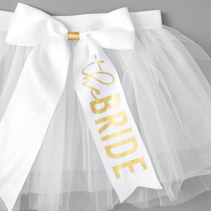 The Bride Glitter Tutu - White,