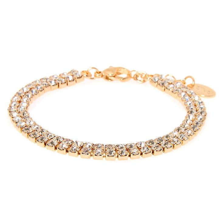 Gold Rhinestone Choker Jewelry Set - 3 Pack,
