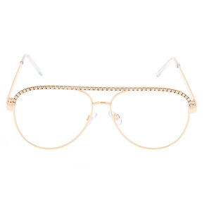 Rose Gold Bling Aviator Frames,