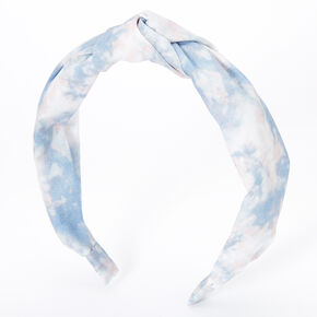Tie Dye Knotted Headband - Dusty Blue,