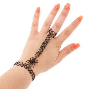 Stretch Spider Hand Bracelet - Black,