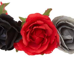 Day of The Dead Flower Crown Headwrap,