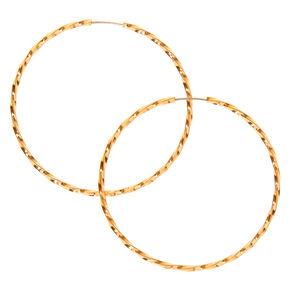Gold 40MM Twist Hoop Earrings,