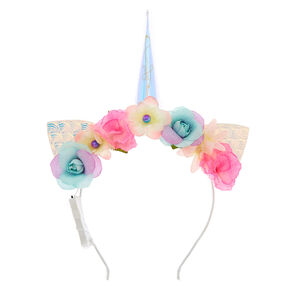 Light Up Unicorn Floral Cat Ear Headband,