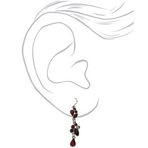Hematite Y-Neck Jewelry Set - Red, 2 Pack,