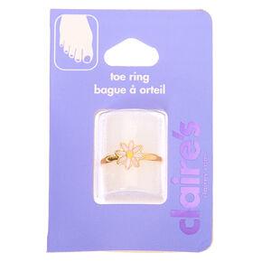Gold Dainty Daisy Toe Ring,