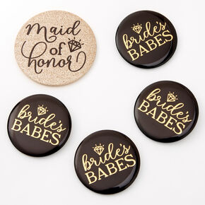 Bridal Party Button Set - 5 Pack,