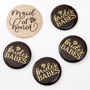 Bridal Party Button Set - 5 Pack,