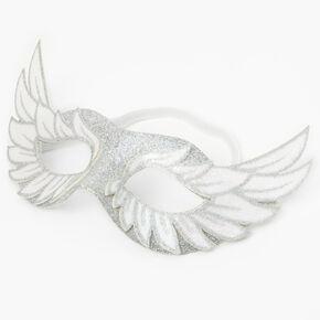 Silver Glitter Angel Wings Halloween Mask,