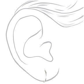 Sterling Silver 14MM Laser Cut Hoop Earrings,