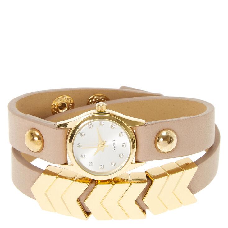 Gold Arrow Wrap Watch,
