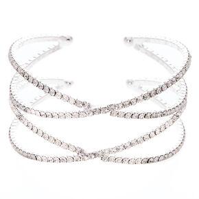 Criss Cross Embellished Cuff Bracelet,