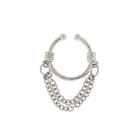 Hanging Chain Faux Cartilage Earring,