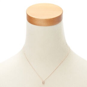 Rose Gold Studded H Initial Necklace,