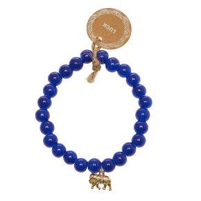 Blue Beaded Luck Bracelet,