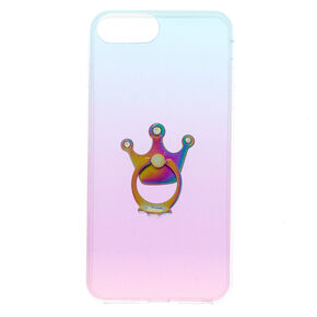 Glitter Ombre With Ring Stand Phone Case,