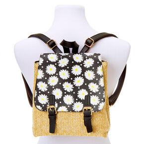 Daisy Straw Midi Backpack,