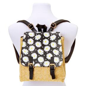 Daisy Straw Midi Backpack,