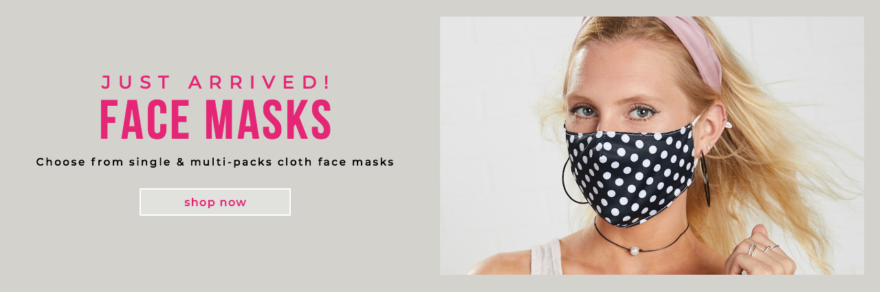 JUST ARRIVED! Lots of face mask styles, 100% Cotton & multiple sizes to fit everyone!