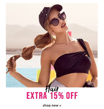 extra 15% off hair