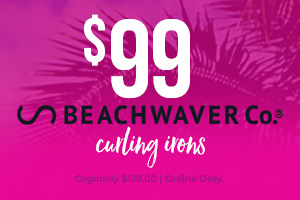 $99 Beachwaver Co.® Curling Irons. Orginally $129.00. Online Only.