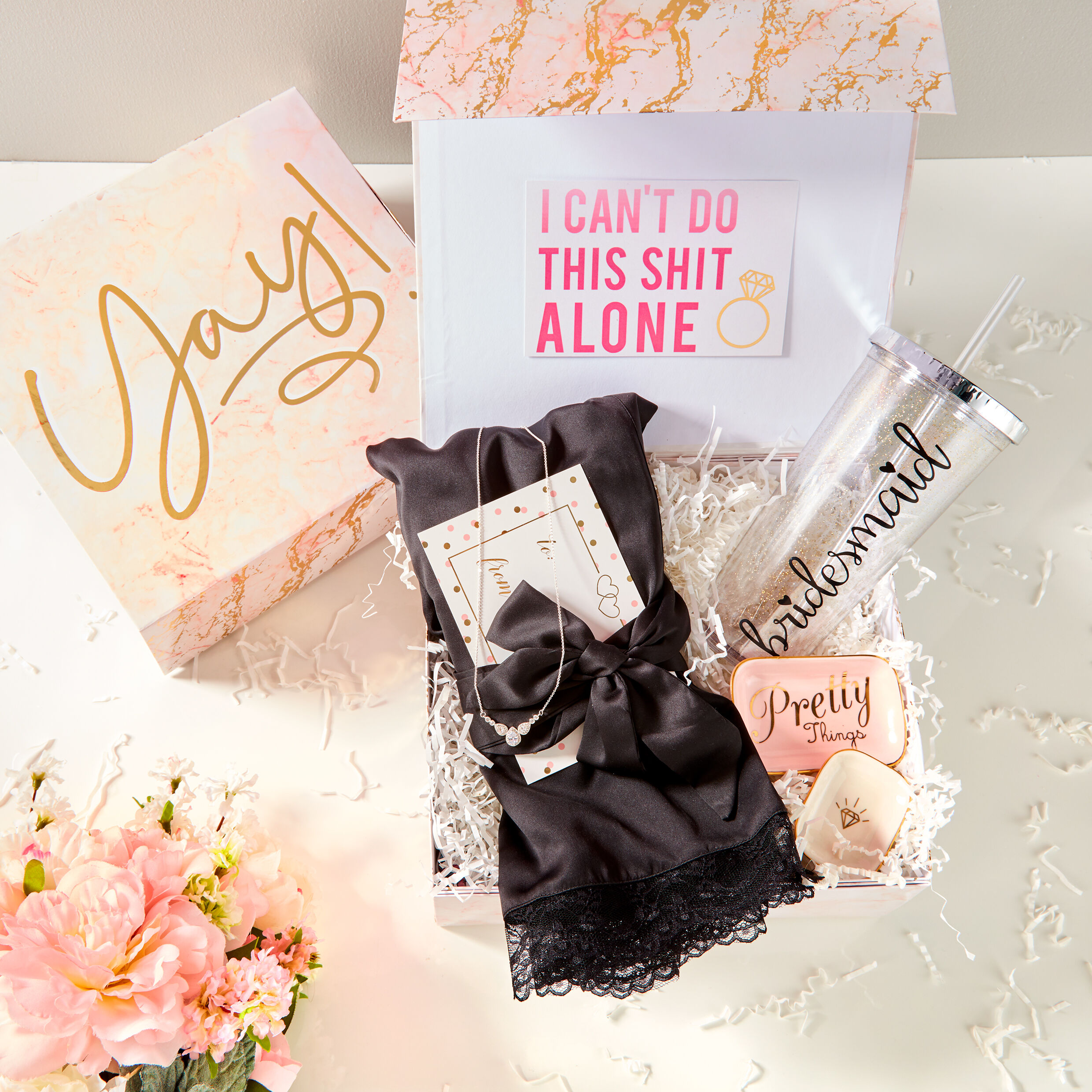 will you be my bridesmaid gift set