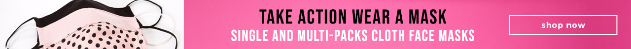 Take Action Wear a Mask Single and Multi-packs Cloth Face Masks