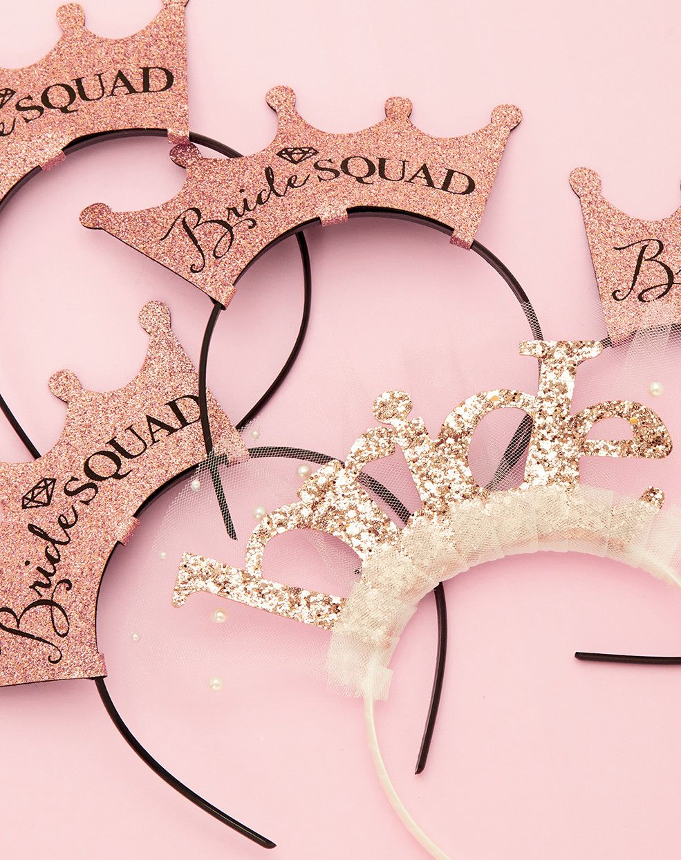 bridal squad headbands for bridal party