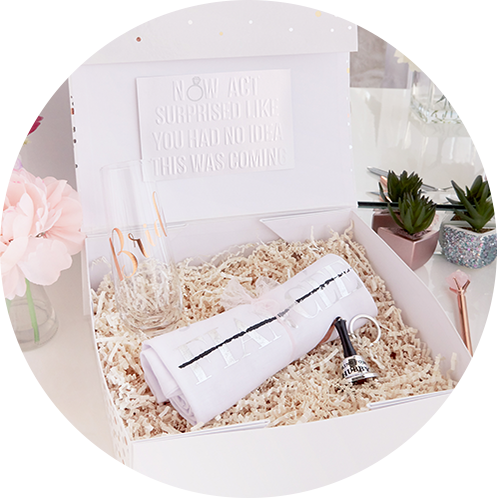 bride to be engagment gift set