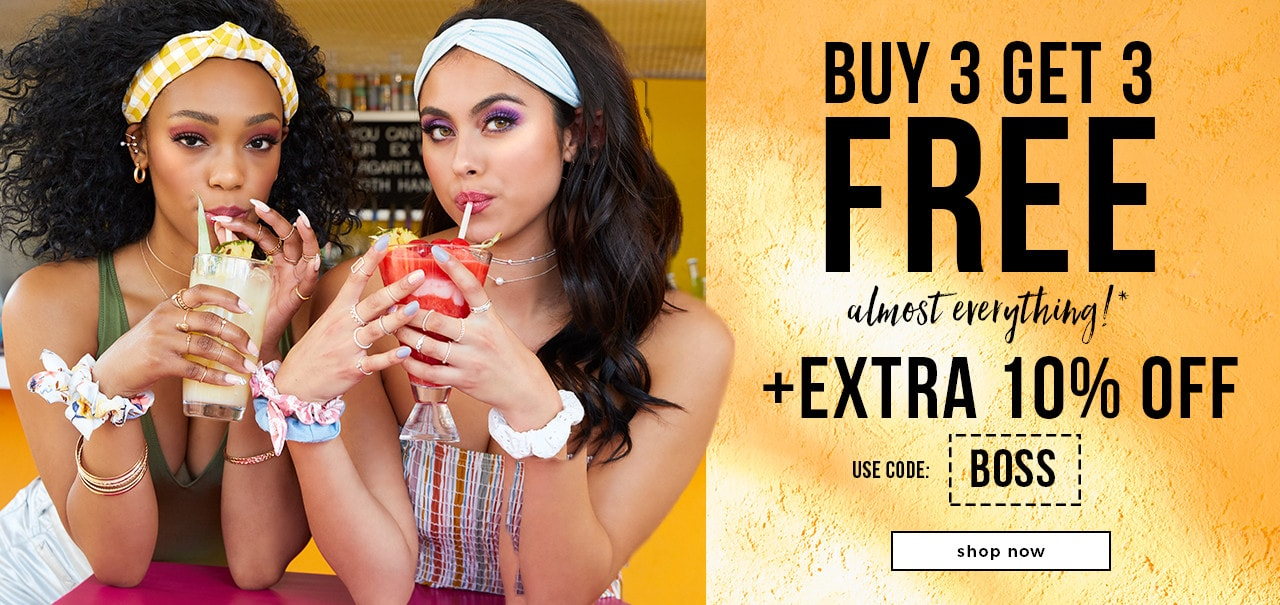 BUY 3 GET 3 FREE ALMOST EVERYTHING!* + Extra 10% Off on $30+ Purchase [BOSS]