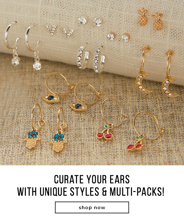 Curate Your Ears with Unique Styles & Multi-Packs!