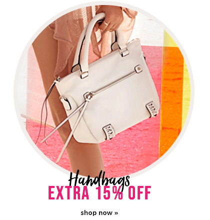 extra 15% off handbags