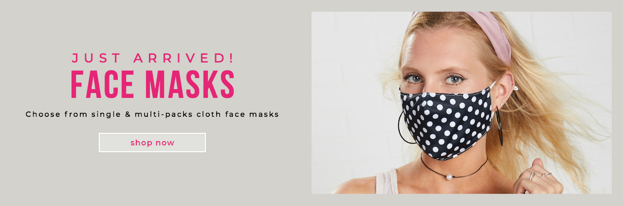 JUST ARRIVED! Take Action Wear a Mask Single and Multi-packs Cloth Face Masks
