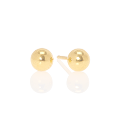 traditional gold plated stud earrings