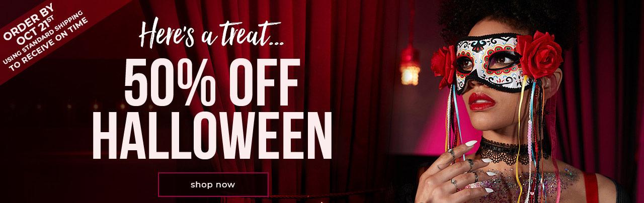 50% Off Halloween - Shop Now