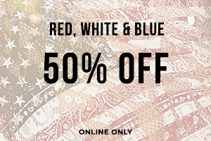 50% OFF Red, White, and Blue*